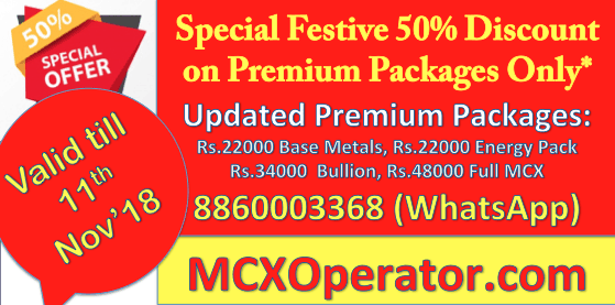 MCX Commodity Tips on Discount Offer